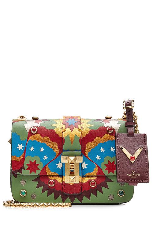8cb222c3372df Valentino B Rockstud Embellished Leather Shoulder Bag | ModeSens