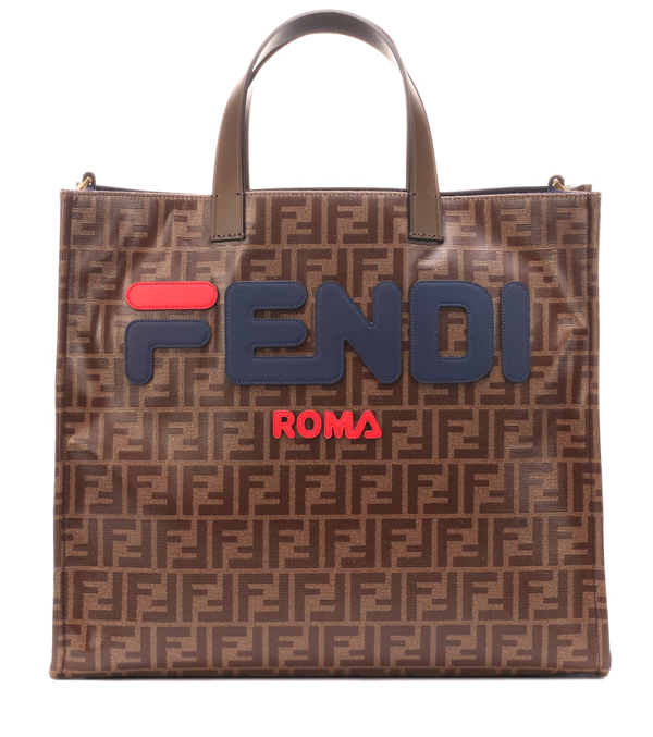 853a67780 Fendi Runway Collection Calf Leather And Canvas Tote Bag In Brown ...