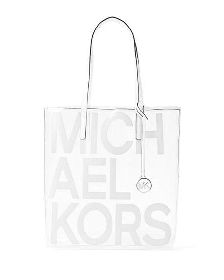 583b879835fd7a Michael Michael Kors The Michael Large North/South Logo Tote Bag In Optic  White