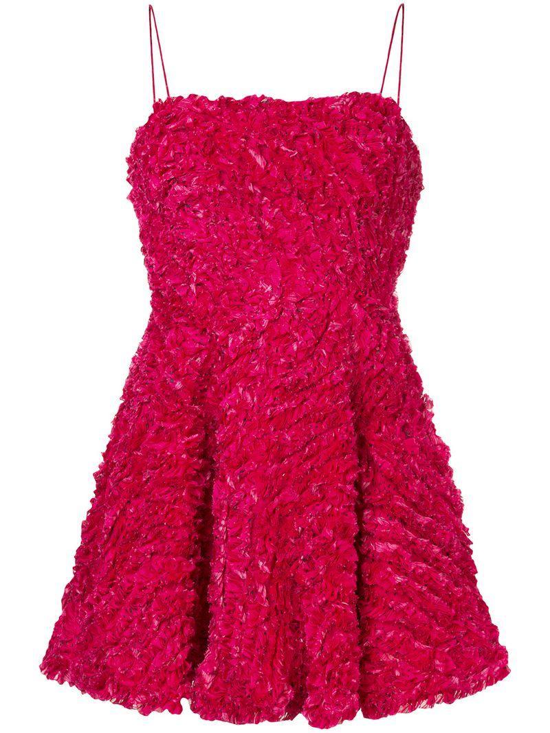 Aje Grevillea Dress - Pink In Pink & Purple