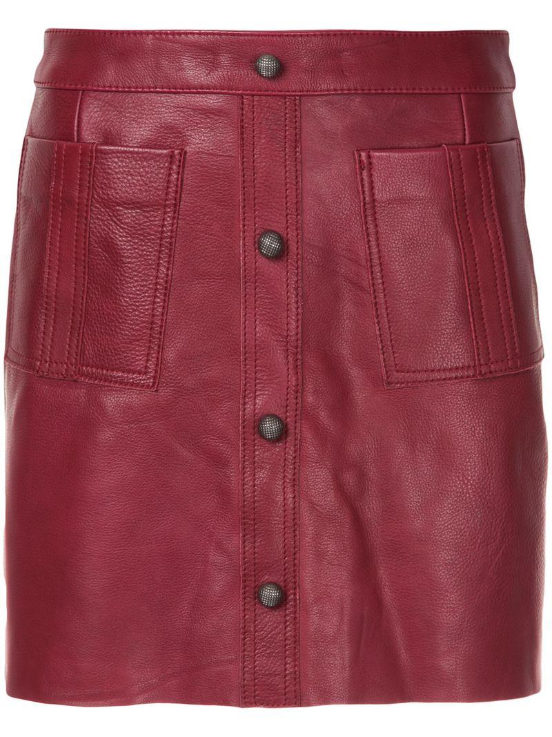Aje Shrimpton Mini Skirt - Red