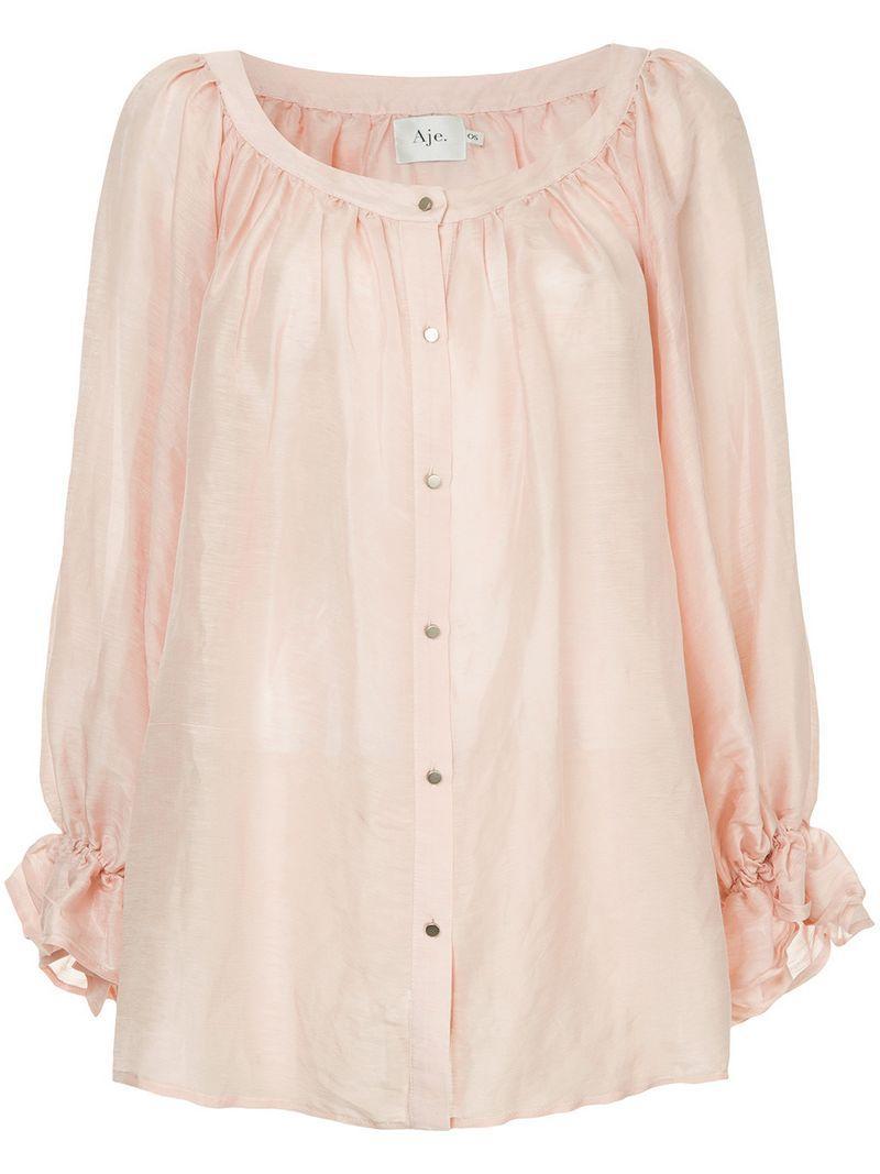 Aje Le Corsaire Blouse - Pink