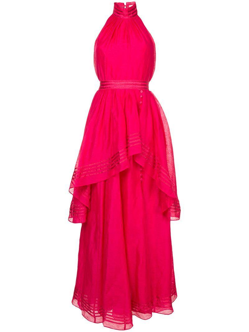 Aje Sienna Dress - Pink In Pink & Purple