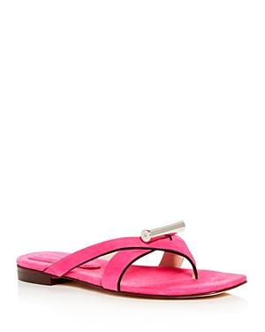 184119503b6 Stuart Weitzman Women s Arro Leather Thong Sandals In Flamingo ...