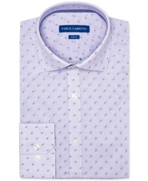 8a2fa9473d5 Vince Camuto Men s Slim-Fit Comfort Stretch Amethyst Dobby Dress Shirt In  Bright Purple