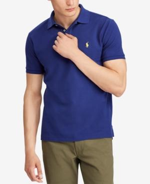 35d10f54505f00 Polo Ralph Lauren Men's Big & Tall Classic Fit Cotton Mesh Polo In Fall  Royal