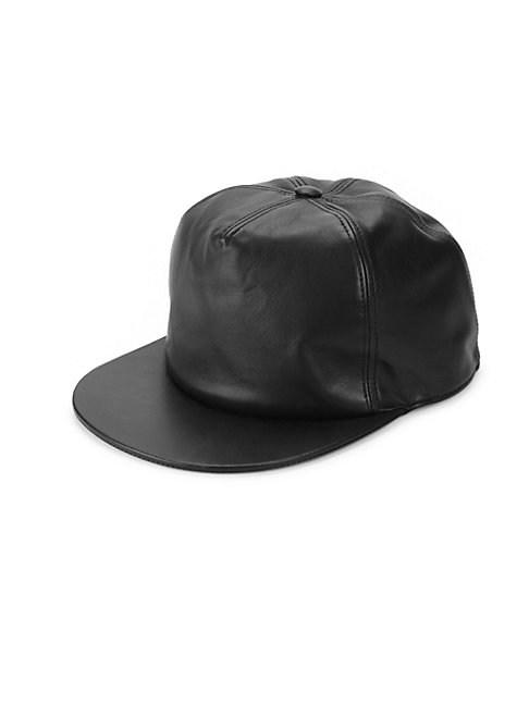 Givenchy Leather Baseball Cap In Black