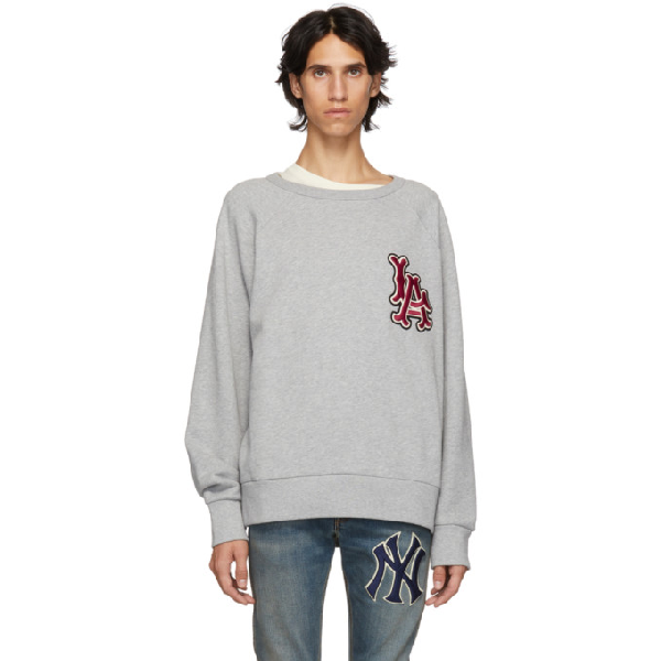 95abc7eb0aa Gucci Men's Sweatshirt With La Angels™ Patch In 1111 Medgre | ModeSens
