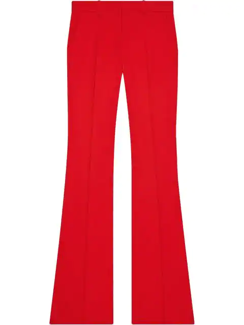 Gucci Stretch Viscose Flare Pant In Red