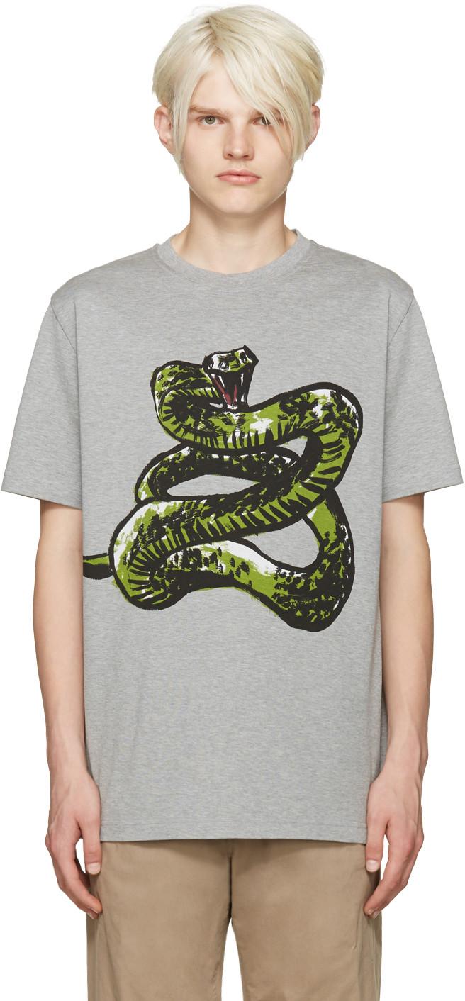 aeb0a58da902 Balenciaga Grey Snake T-Shirt