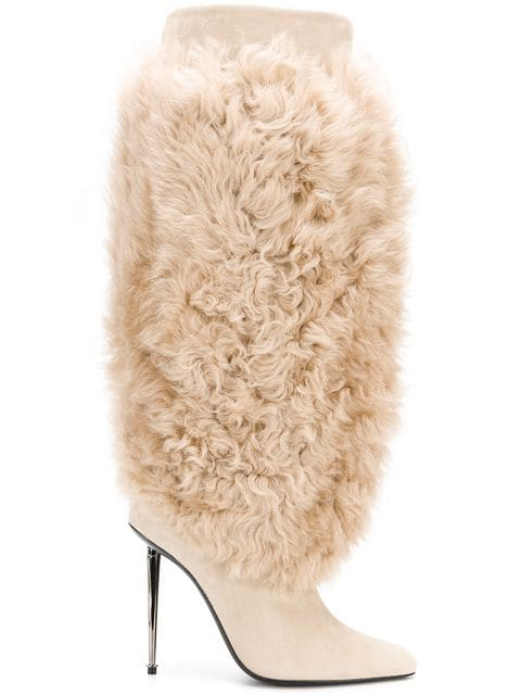 Tom Ford Shearling Boots In Bll Blond + Blond