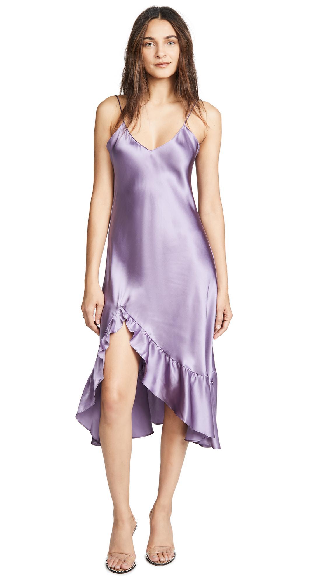 a8b24b39202a0 Emerson Thorpe Macy Silk Flounce Dress In Lavender   ModeSens