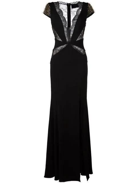 Philipp Plein 'daphne' Evening Dress In Black