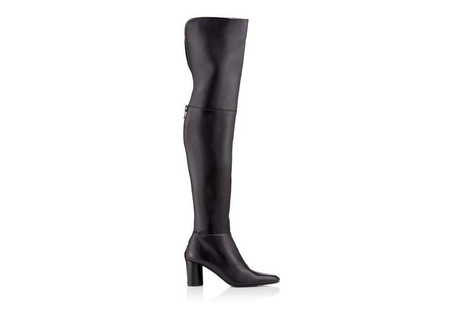 Tom Ford Zip Over The Knee Boot In Black