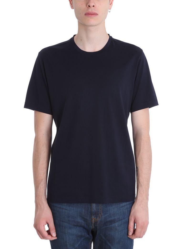 Z Zegna Blue Cotton T-Shirt