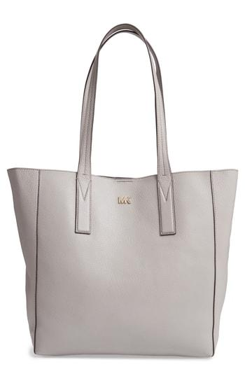 ac6fbd28e8d7 Michael Michael Kors Large Junie Pebbled Leather Tote In Pearl Grey ...