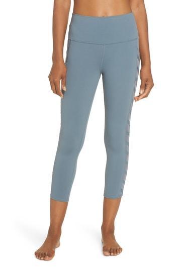 9727704f7c65b2 Alo Yoga Chevron High Waist Capri Leggings In Concrete | ModeSens