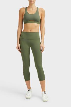 3d03f0bf33980c Alo Yoga Chevron High Waist Capri Leggings In Grey | ModeSens