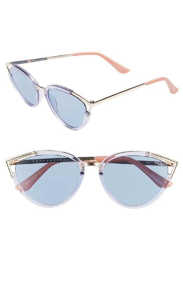 cf11345760f Quay Hearsay 65Mm Cat Eye Sunglasses - Blue  Blue