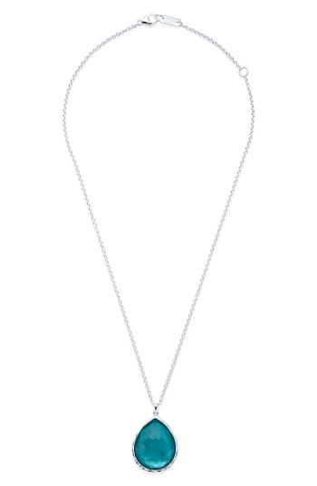 0f628552d45176 IPPOLITA. Sterling Silver Wonderland Mother-Of-Pearl Doublet Large Pendant  Necklace, 18 in Light Blue