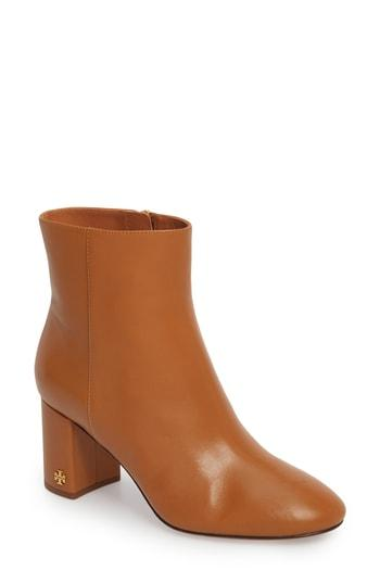 892a9e5b0 Tory Burch Women s Brooke Round Toe Leather Booties In Tan