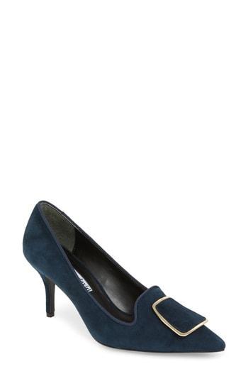 1ab90efe114b8 Charles David Women's Aramina Pointed Toe High-Heel Pumps In Navy Suede