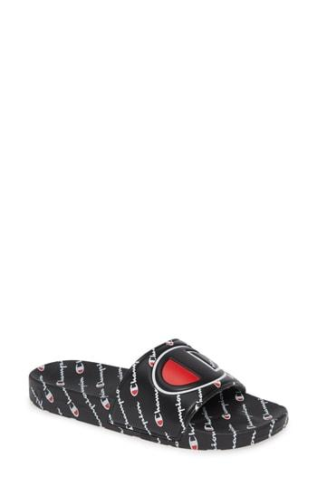 58316d0f8f8 Champion Ipo Repeat Sport Slide Sandal In Black  Black  Repeat ...