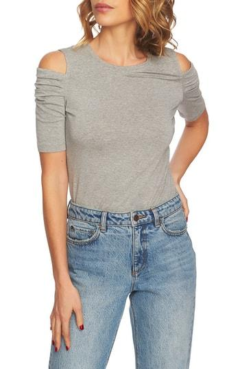 ff31a1ea0 1.State Cold Shoulder Top In Light Heather Grey | ModeSens