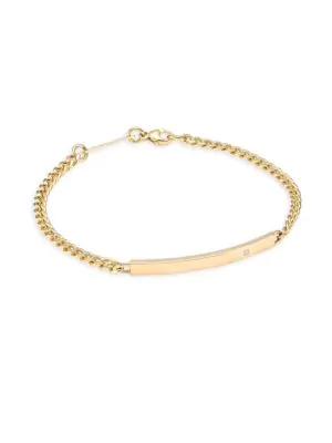 f9961ab426607 ZoË Chicco Diamond   14K Yellow Gold Id Bracelet