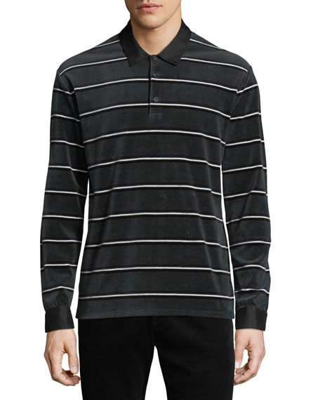 dc5b26067bf Vince Men's Long-Sleeve Rugby-Stripe Polo Shirt In Hunter Green ...