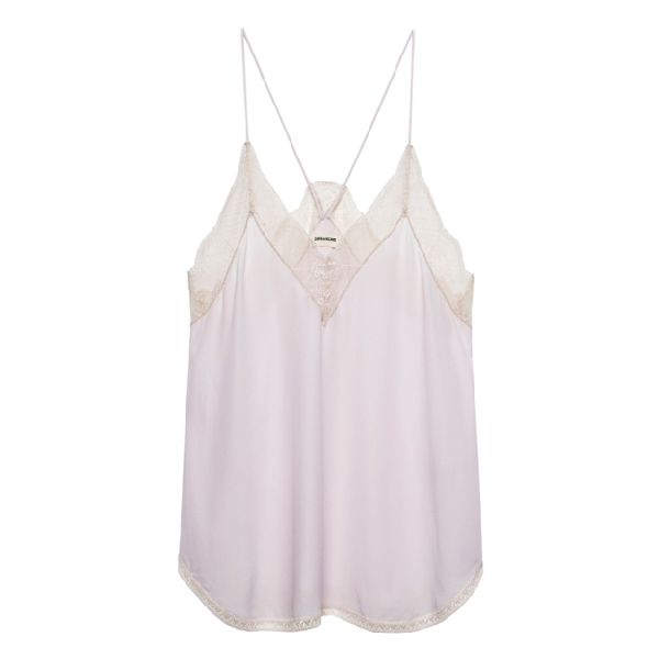 832858b0438 Zadig & Voltaire Christy Silk Camisole Top In Lilac | ModeSens