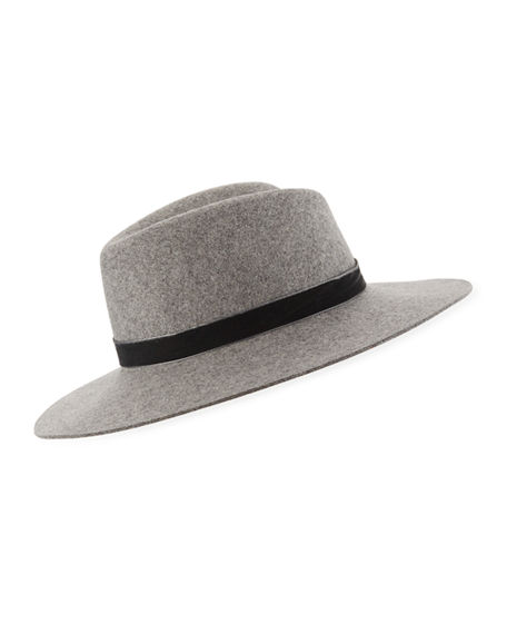dbf25d156bed47 Rag & Bone Zoe Wool Fedora - Grey In Light Heather Grey | ModeSens