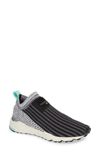 buy popular 05fb7 5defd ADIDAS ORIGINALS. Adidas Eqt Support Sock Primeknit Sneakers - Black