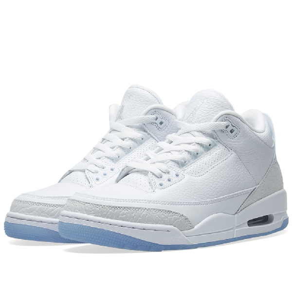 new product fcccc 2196f Men's Air Jordan Retro 3 Basketball Shoes, White