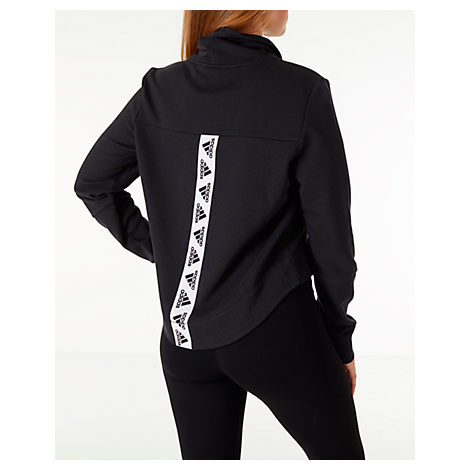 d42c3405f ADIDAS ORIGINALS. Adidas Sport 2 Street Funnel-Neck French Terry Cropped  Sweatshirt in Black