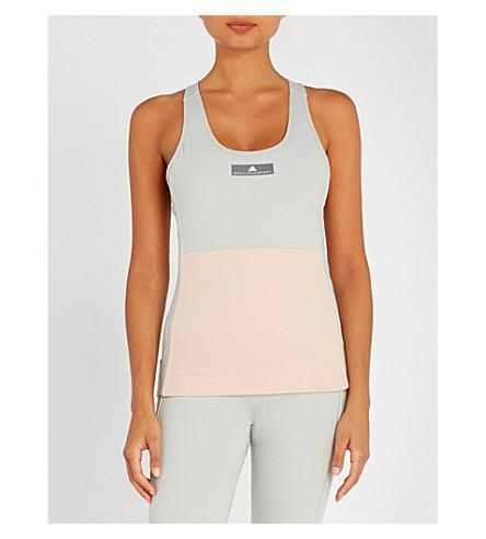 5c662bf299901a Adidas By Stella Mccartney Yoga Comfort Stretch-Jersey Top In Pink ...