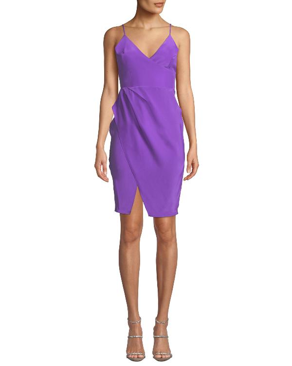 Amanda Uprichard Midtown Sleeveless Silk Dress In Purple