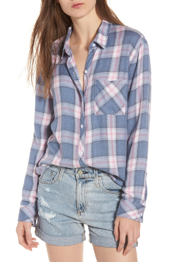 c2324ccba Rails Hunter Plaid Button-Front Shirt In Indigo Berry | ModeSens