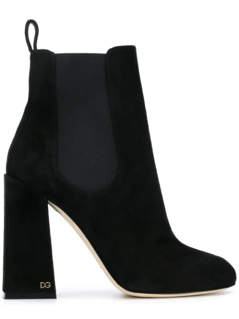 Dolce & Gabbana Heeled Ankle Boots In Black