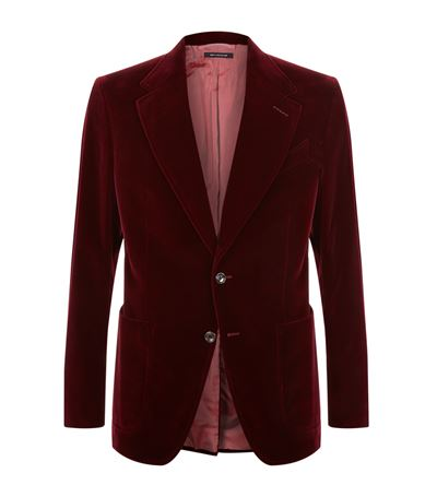 3bfaf845ac00 Tom Ford Merlot Shelton Slim-Fit Cotton-Velvet Tuxedo Jacket In Burgundy