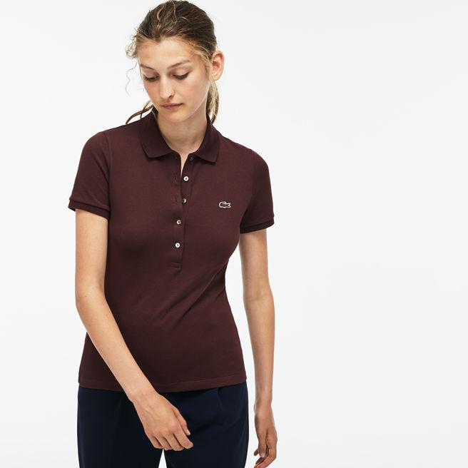 4fe2a686 Lacoste Women's Slim Fit Stretch Mini Cotton PiquÉ Polo Shirt In Brown