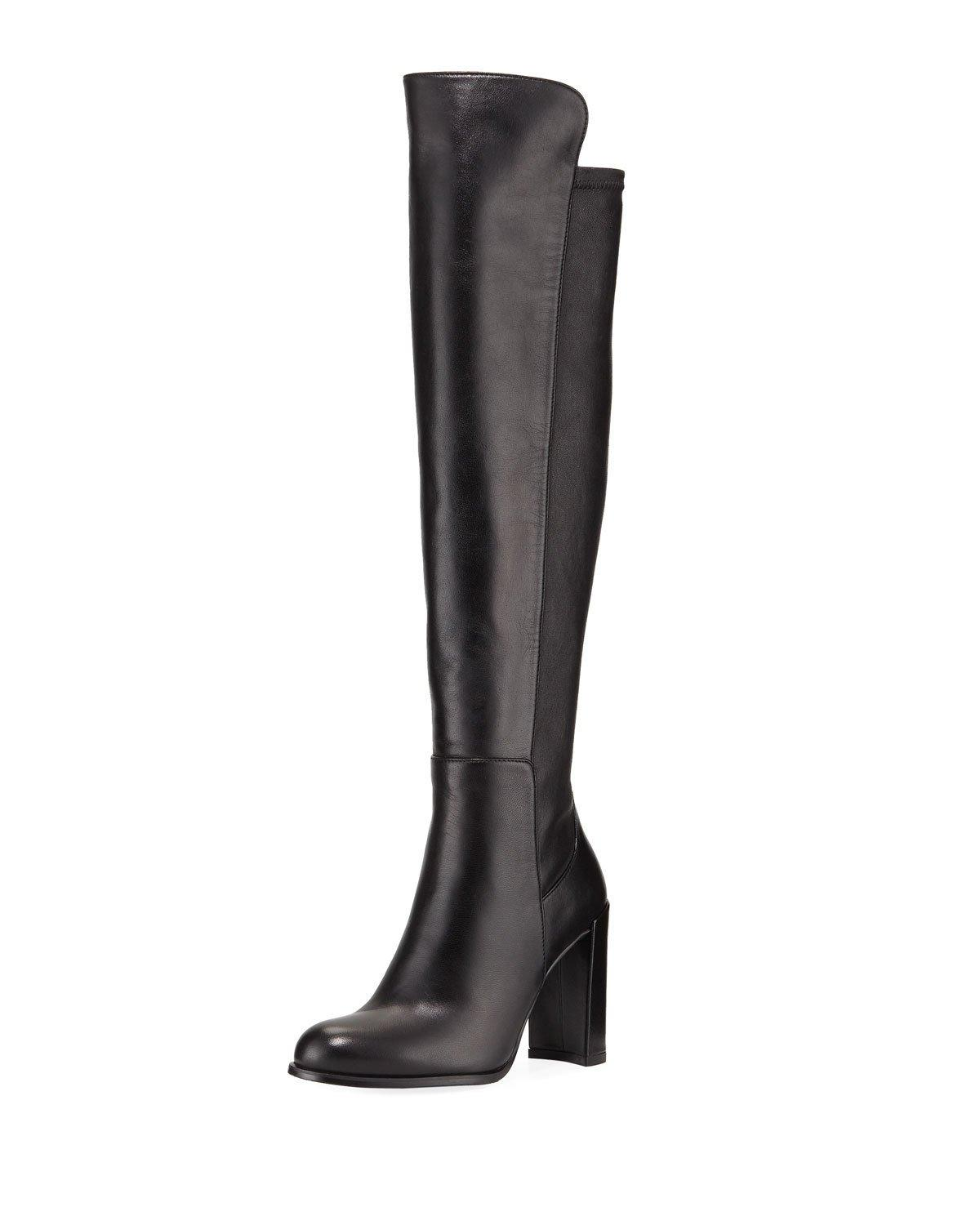 73be7d30bfa Stuart Weitzman Alljill Over-The-Knee Leather Boot In Grey