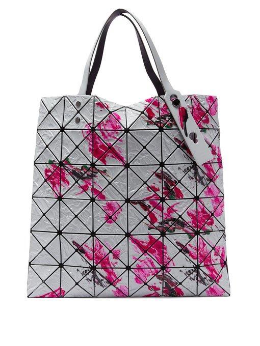 9ff366df850c5 Bao Bao Issey Miyake - Lucent Paint Splatter Tote - Womens - Pink White