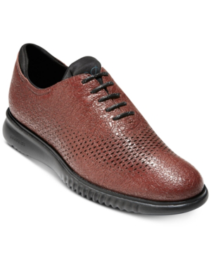 7c667b5130a4 Cole Haan Men s 2.Zerogrand Laser Wingtip Oxfords Men s Shoes In Hickory  Textured Leather