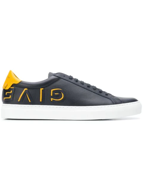 Givenchy Urban Street Low-Top Leather Trainers In Blue