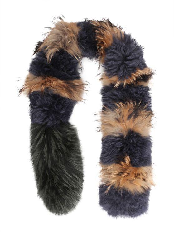 Mr & Mrs Italy Fur Collar In Multi