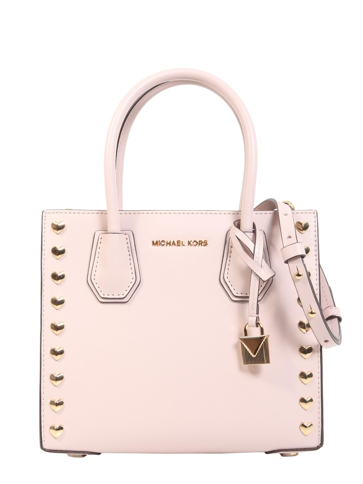 6ee744f06d3f Michael Michael Kors Mercer Medium Messenger Bag In Pink | ModeSens