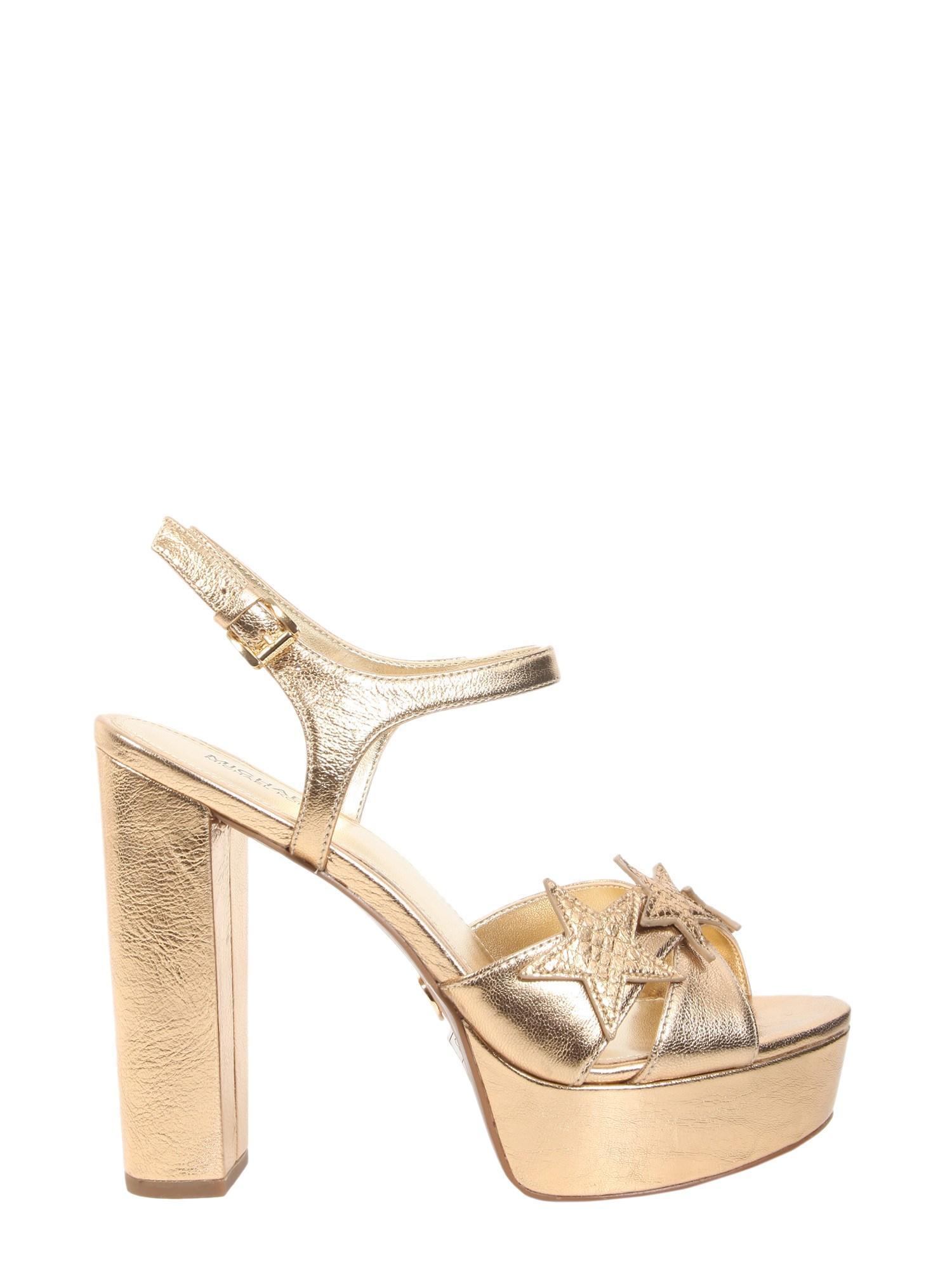 cec368509a77 Michael Michael Kors Lexie Platform Sandals In Gold