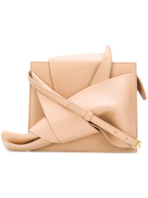 N°21 Shoulder Bow Bag In Neutrals