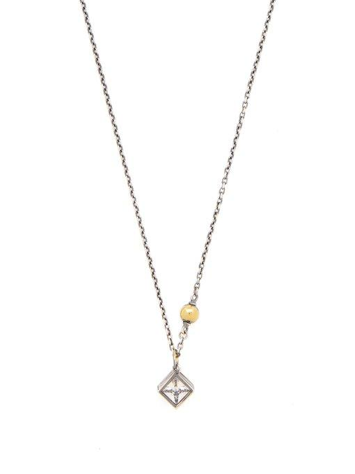 Bottega Veneta - Sterling Silver & Crystal Necklace - Womens - Silver